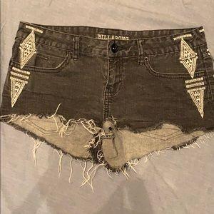 Adorable Aztec Billabong Jean Shorts